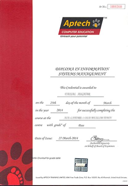 Transcript – Computer Certificate Format